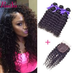 """Cheap hair powder, Buy Quality kinky human hair directly from China kinky remy Suppliers: chanpin_begin           Name:   Best Malaysian Curly Hair With Closure 10""""-24"""" Malaysian Deep Wave"""