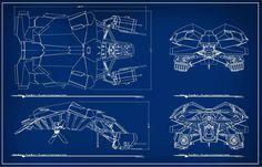 Christopher Nolan's Batwing Blueprint