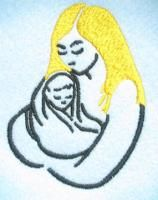 Loves Me Like a Rock Mothers Day Embroidery Design