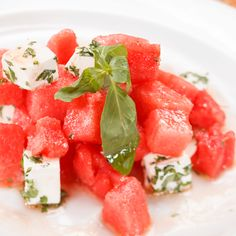 Try this mouthwatering Watermelon and Feta Salad – perfect for a warm summer evening!