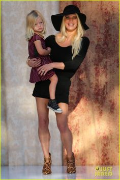 Jessica Simpson Brings Daughter Maxwell On Stage at Nordstrom's Fashion Show!