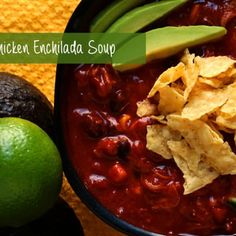 Slow cooker chicken enchilada soup packed with rotisserie chicken, two melted cheeses, and spicy enchilada sauce. Ten minutes or less of work.