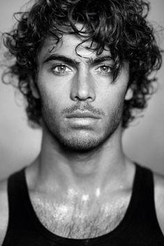 "lovingmalemodels: "" Pierre Louis Costes by Francois Rousseau "" Curly Hair Men, Curly Hair Styles, Beautiful Eyes, Gorgeous Men, Latino Men, Male Face, Male Beauty, Black Beauty, Haircuts For Men"