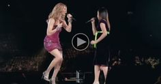 A Nervous Girl Sings Onstage With Celine Dion, Then Brings The Crowd To Their Feet.