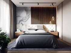 Contemporary Decor Idea 5912422863 Easy Contemporary answers to organize a jaw dropping rustic contemporary decor ideas Simple Contemporary home decor note pinned on this wonderful day 20190906 Bedroom Bed Design, Modern Bedroom Design, Home Decor Bedroom, Bedroom Furniture, Contemporary Apartment, Contemporary Home Decor, Contemporary Pillows, Contemporary Stairs, Contemporary Wallpaper