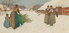 Henri Cassiers - Scène d'hiver en Staphorst