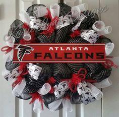 Atlanta Falcons Wreath by KarieLynnDesigns on Etsy