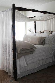 I will have a canopy bed when I grow up. Frm bd: Around the House