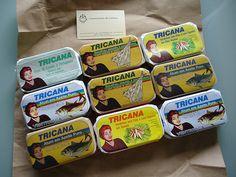 Tricana sardine tins from Conserveira de Lisboa.