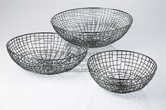 Wire craft..minimalist....fruit / egg baskets..storage.....multi-utility....at The Home Expo India, 2016 #tableware #tradeshow #homeexpo