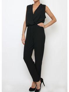 Combi-pantalon chic femme. Noir. http://milena-moda.com/