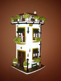 MANUALIDADES LA ANDALUZA: TEJAS Miniature Houses, Liquor Cabinet, Furniture, Home Decor, Tray Tables, Castles, Garden, Yule, Clay Houses