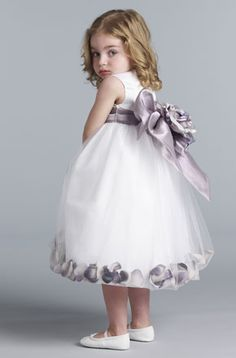 Us Angels Flower Girl//Special Occasion Petal Dress Style 705 White Size 4T