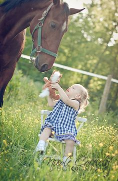 country girl with her horse in a field of flowers photography - toddler photography -  2 year shoot