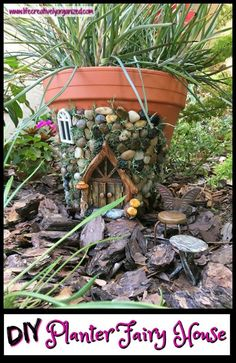 Whimsical Fairy House Planter