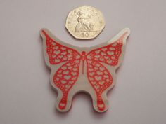 New TONIC Single Juliet Butterfly Cling Rubber Stamp - 6.5cm x 6cm  #Tonic