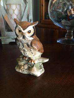 SOLD!!!!Owl Figurine by CoffeeCreekVintage on Etsy