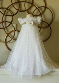 Baptism / Blessing Dot LACE Jane Austen Dress with by llheron | Idea for Nora's blessing dress