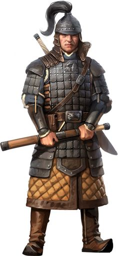 m Fighter med armor helm sword axe Golden Horde warrior 3d Fantasy, Fantasy Armor, Medieval Fantasy, Conan Rpg, Character Concept, Character Art, Samurai, Larp, Chinese Armor