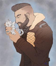Maxson and a kitten