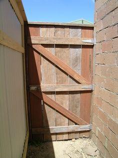 ledge and brace gate in rustic jarrah