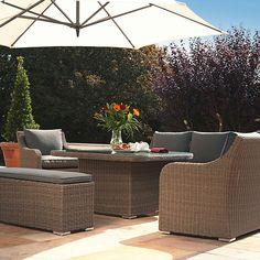 Madrid Corner Suite Rattan: The complete solution for any outdoor occasion. From casual dining to relaxing with friends, this set can be used all year All Weather Garden Furniture, Outdoor Furniture Sets, Outdoor Decor, Garden Games, Great Places, Rattan, Madrid, Corner, Relax