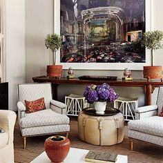 Things We Love: Console Tables - Design Chic #Homes #HomeDecorators #LivingRoomIdeas