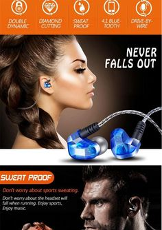 Original wireless earphone Moxpad X90 Bluetooth 4.1 Stereo Headset In-Ear Sport Running Earphones Music with Mic dre for iphone