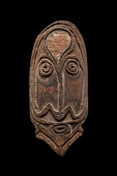 This striking piece is a rare bark mask from somewhere south of the Middle Sepik River in Papua New Guinea. It was collected in the 1960s an...