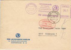 Berlin-Weissensee VEB Lackfabrik nach Schkopau VEB Chemische Werke Buna