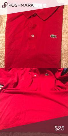 Men's Lacoste Red polo Men's Lacoste red polo size XL Lacoste Shirts Polos