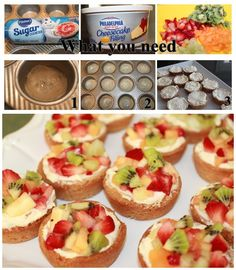Easy Make Sugar Cookie Cheesecake Fruit Cups for Party