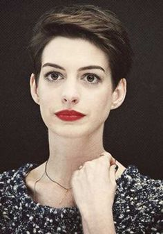 Celebrity pixie hair like Anne Hathaway's have taken over Hollywood, and they're giving us tons of inspiration for our next salon visit. Really Short Hair, Short Hair Cuts, Short Hair Styles, Short Choppy Haircuts, Cool Haircuts, Haircut For Thick Hair, Pixie Haircut, Haircut Short, Trending Hairstyles