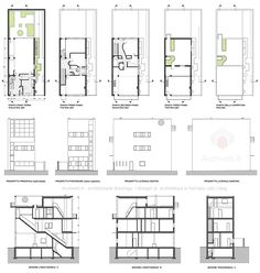 Awesome Maison Guiette Plan that you must know, You're in good company if you're looking for Maison Guiette Plan Architecture Drawings, Architecture Plan, Architecture Details, Building Images, Building Plans, Building Design, Craftsman Floor Plans, House Floor Plans, Planks