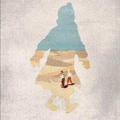 'Great Tintin illustration' said previous pinner • Herge, Tintin et moi