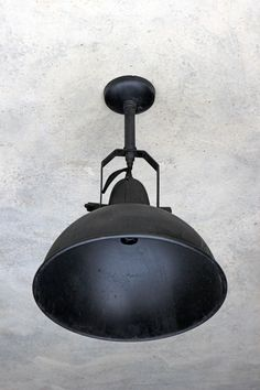 Giant Black Warehouse Ceiling Light - View All - Lighting Ceiling Pendant, Pendant Lighting, Ceiling Lights, Bedroom Styles, Warehouse, Minimal Living, Outdoor Decor, Guest Room, Inspiration