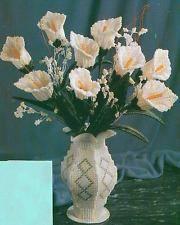 ELEGANT LILIES WITH VASE FLOWERS PLASTIC CANVAS PATTERN INSTRUCTIONS