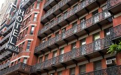 New York's Chelsea Hotel — the pinnacle of sex, drugs and rock'n'roll. Saddened to hear of its closure, will definitely be dropping by it while in the Big Apple though.