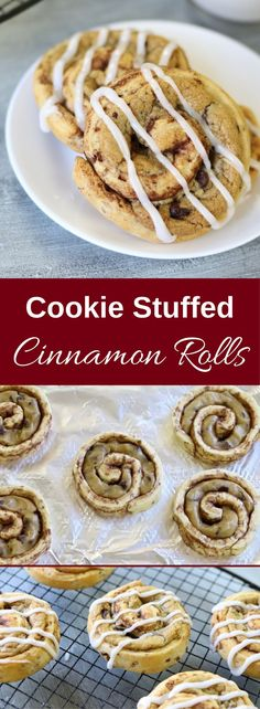 Say again? Yes, we combined chocolate chip dough and cinnamon roll. Seriously, Cookie Stuffed Cinnamon Rolls could be the best midnight snack you ever try. That is after our wildly popular Cinnamon Roll S'mores recipe of course. These are so much fun to make and are great for sharing too!