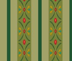 Frozen Anna Green fabric by aimee on Spoonflower - custom fabric