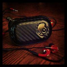 My birthday present.  Skull candy earphones, the fix.