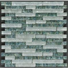 Elida Ceramica Sparkling River Linear Mosaic Glass And