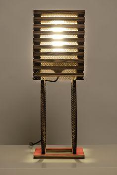 CYCLO- desk #lamp in multi-layered #cardboard. #DESIGN & Realization: #ALTROPROGETTO