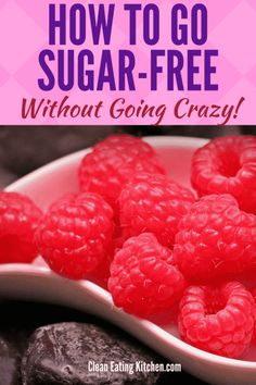 Cutting sugar out of your diet is one strategy to lose weight and feel healthier, but it can be a tough transition. Here are 8 tips to go sugar-free. Diabetes In Children, Cure Diabetes Naturally, Diabetes Management, Vegan, Diet Tips, Diet Ideas, Food Tips, Sugar Free, Health Tips