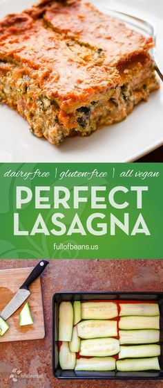 Lasagna! Everyone LOVES it. This one is vegan and gluten free and so good your non-vegan friends and family will change their minds about vegan food! :-) #glutenfree #vegan #lasagna