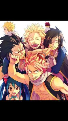 Natus, Gajeel, Wendy, Laxus, Cobra, Sting, and Rogue. The Dragon Slayers. #fairytail