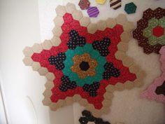 """3/4"""" Star Hexagon WiP by Liz"""