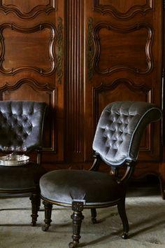 ナポレオンチェア サロンチェア― ソファー フランス アンティーク ナポレオン3世様式 ベルベット