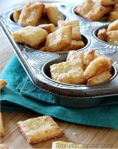 Galletas saladas con queso