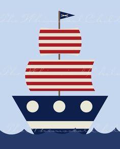 Pirate Ship 2 from csmda etsy shop Más Applique Templates, Applique Patterns, Applique Quilts, Applique Designs, Embroidery Applique, Machine Embroidery Designs, Quilt Patterns, Nautical Quilt, Nautical Theme